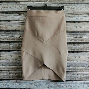 Forever 21 | Tan Bandage Arched Mini Skirt | Small